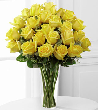 Premium Yellow Rose Arrangement