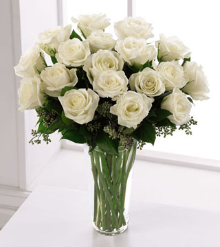 Deluxe White Rose Bouquet