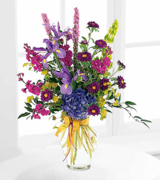 Graceful Purples Arrangement by Teleflora