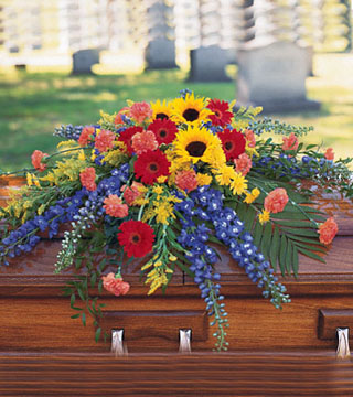 Vibrant Summer Casket Spray