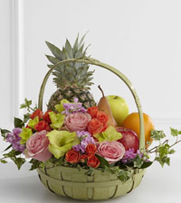 Peace Fruit & Flowers Basket