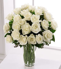 Premium White Rose Arrangement