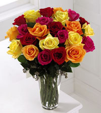 Premium Bright Spark Rose Bouquet