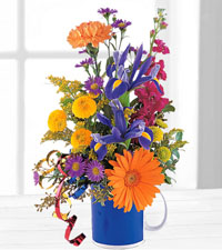 Cheerful Flowers in a Mug