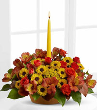 Harvest Centrepiece with Single Taper